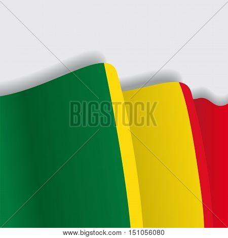 Malian waving Flag. Vector illustration Eps 8