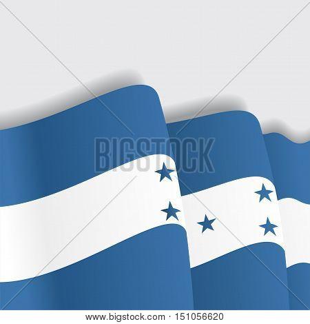 Honduras waving Flag. Vector illustration Eps 8