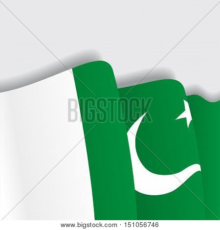 Pakistani waving Flag. Vector illustration Eps 8