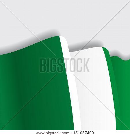 Nigerian waving Flag. Vector illustration Eps 8