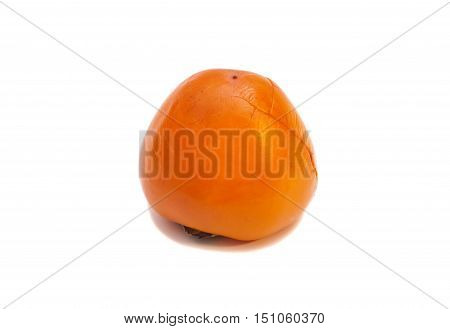 Persimmon fruit isolated on a white background