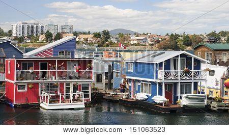 Fisherman Wharf in Victoria (Vancouver Island, Canada)