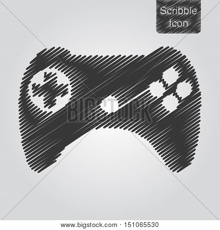 Vector Icon Of Joystick In Scribble Style