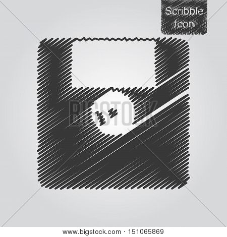 Vector Icon Of Floppy Disk In Scribble Style