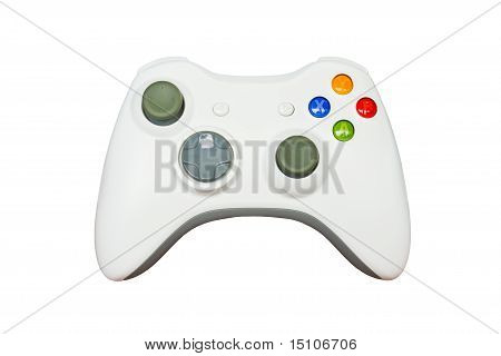 Game Controller On White Background