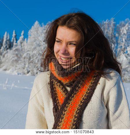 Joyful Happy Winter Girl