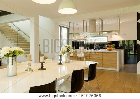 Dining Room Open To Kitchen Idea