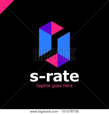 Super Rate Logo - Letter S Line Logotype