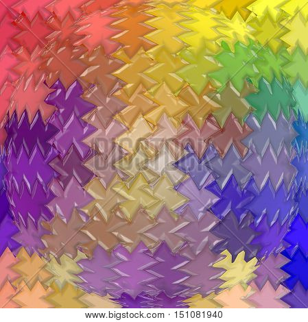 Abstract coloring background of the pastels gradient with visual mosaic,pinch,spherize and plastic wrap effects