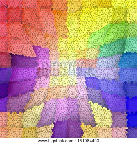 Abstract coloring background of the pastels gradient with visual mosaic,pinch and stained glass effects