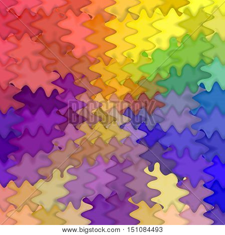 Abstract coloring background of the pastels gradient with visual mosaic,pinch and wave effects