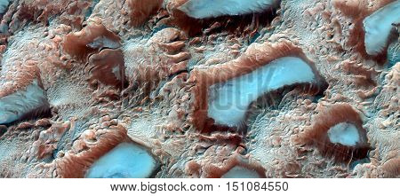 mirage turquoise lagoons between the dunes in the Sahara Desert,abstract landscapes of deserts of Africa from the air,Oasis imaginary, abstract representation of human body cells,abstract naturalism,