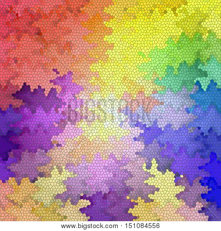 Abstract coloring background of the pastels gradient with visual mosaic, pinch, wave and stained glass effects