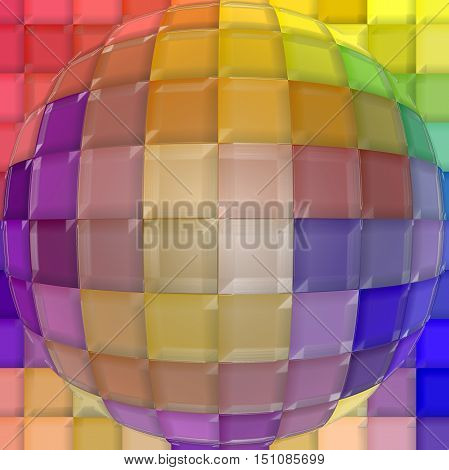 Abstract coloring background of the pastels gradient with visual mosaic,spherize and plastic wrap effects