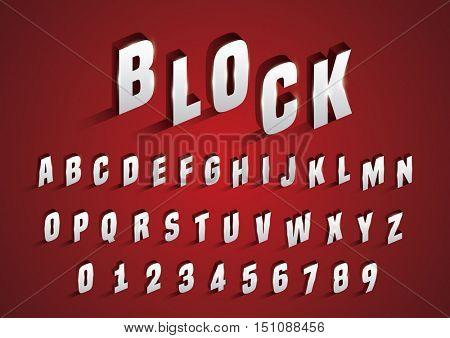 Vector of stylized bold alphabet blocks