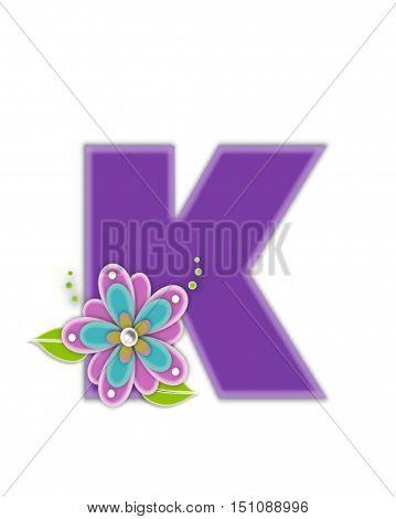 Alphabet Living Lilac K