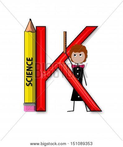 Alphabet Teacher And Class K