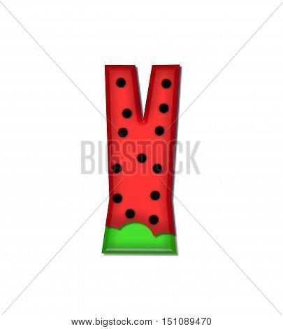 Alphabet Watermelon Y