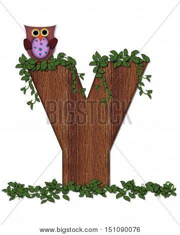 Alphabet Deep Woods Owl Y