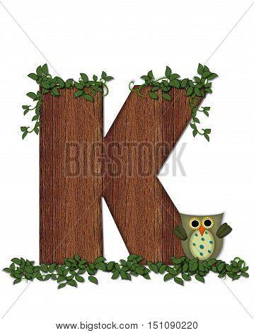 Alphabet Deep Woods Owl K