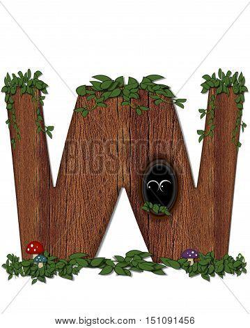 Alphabet Log W