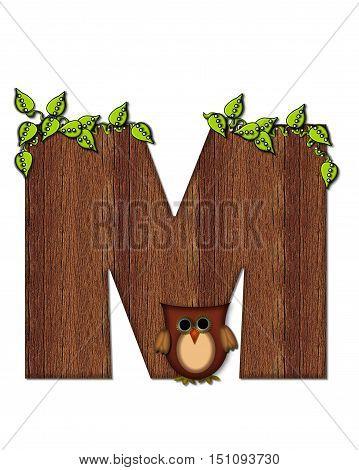 Alphabet Woodsy Owl M