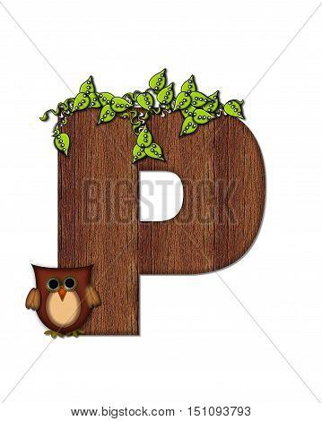 Alphabet Woodsy Owl P