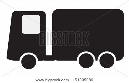 Delivery icon. Fast shipping delivery truck flat icon