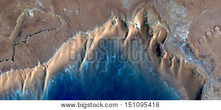 the ocean,Caribbean beaches with turquoise waters in the middle of african desert from the air,mirage in the Sahara abstract photography naturalist from the deserts,waves,sea and sand in the dunes