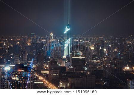 Cityscape Lightshow Mahanakhon Tower Skyscrapercity