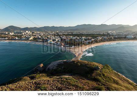 Aerial View of Recreio dos Bandeirantes Region in Rio de Janeiro City