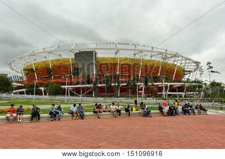 Rio de Janeiro, Brazil - September 16, 2016: Olympic Park of Barra during the Paralympic Games Rio 2016.