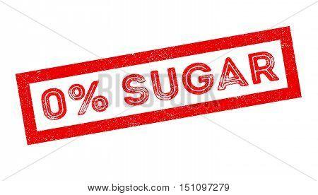 Zero Percent Sugar Rubber Stamp