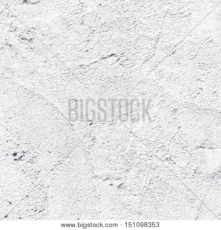 Abstract black and white wall texture pattern background. Closeup surface with beautiful tracery plaster cement wall.