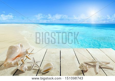 Pier with shells