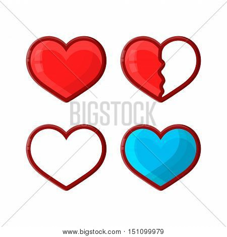 Vector heart life for arcade game. games lives or handicap