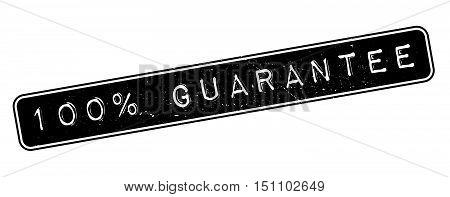 100 Percent Guarantee Rubber Stamp