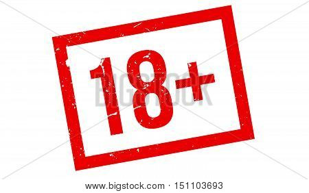 18 Plus Rubber Stamp
