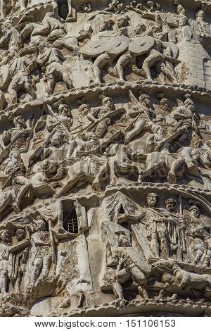 Column Of Marcus Aurelius In Rome
