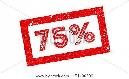 75 Percent Rubber Stamp