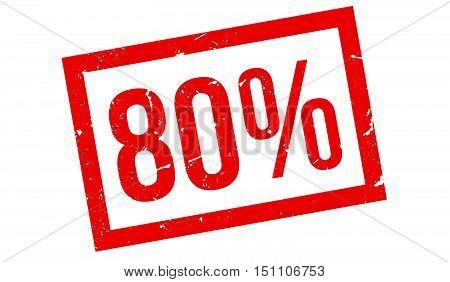 80 Percent Rubber Stamp