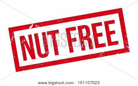 Nut Free Rubber Stamp