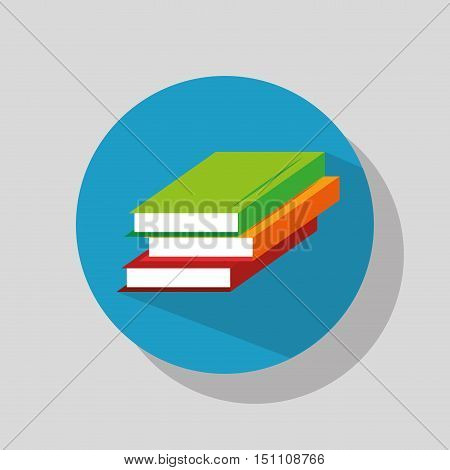 educational book icon over blue circle. vector illustration