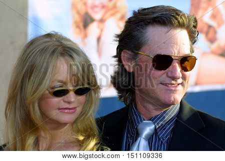 Goldie Hawn and Kurt Russell at the Los Angeles premiere of 'Raising Helen' held at the El Capitan Theatre in Hollywood, USA on May 26, 2004.