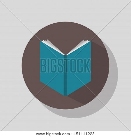 educational book icon over black circle. vector illustration