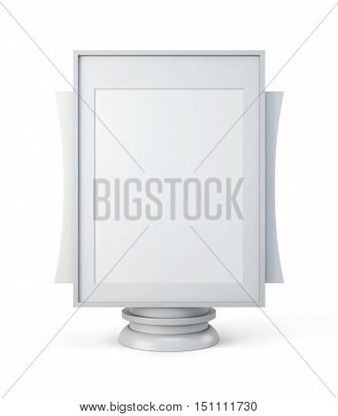 Mockup For Advertising Isolated On A White Background. 3D Rendering