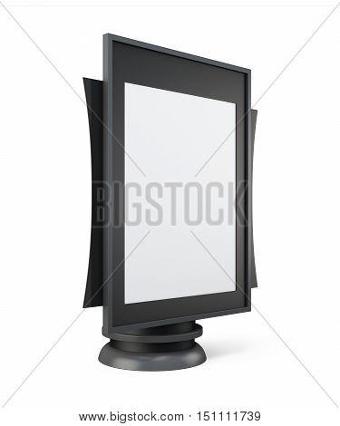 Mock Up Lightbox For Your Design. 3D Rendering