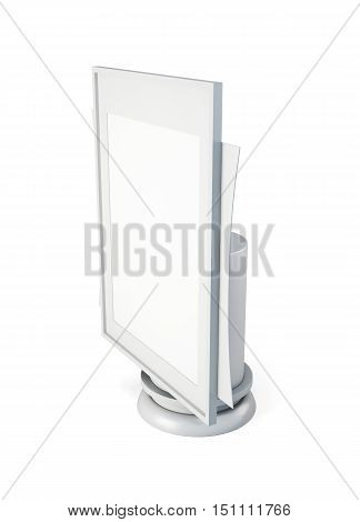 Template Of Advertising Stand Isolated. 3D Rendering