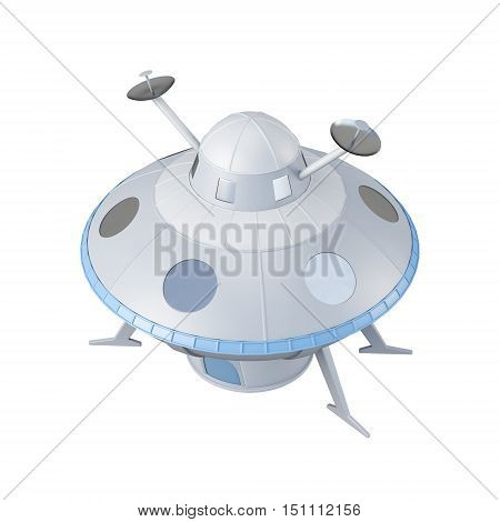Flying Object Isolated On White Background. 3D Rendering