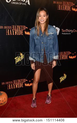 LOS ANGELES - OCT 9:  Jamie Chung at the Haunted Hayride 8th Annual VIP Black Carpet Event at the Griffith Park on October 9, 2016 in Los Angeles, CA